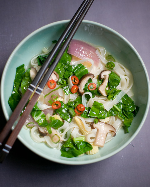 Asian Inspired Chicken Noodle Soup-1-2