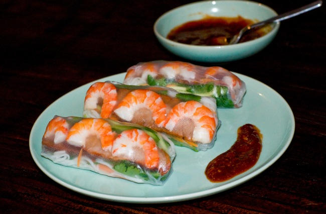 Char sui pork & prawn rice paper rolls-1-3