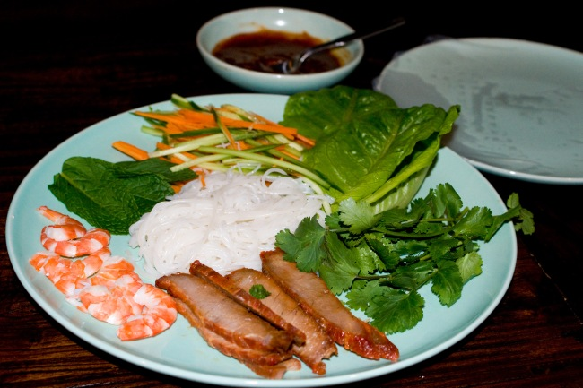Char sui pork & prawn rice paper rolls-2