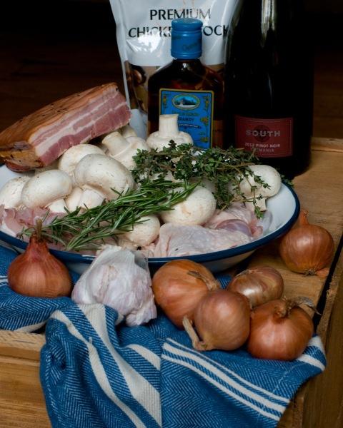 Coq Au Vin with Roasted Garlic & Olive Oil Mash