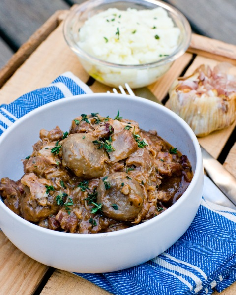 Coq Au Vin with Roasted Garlic & Olive Oil Mash-3-2