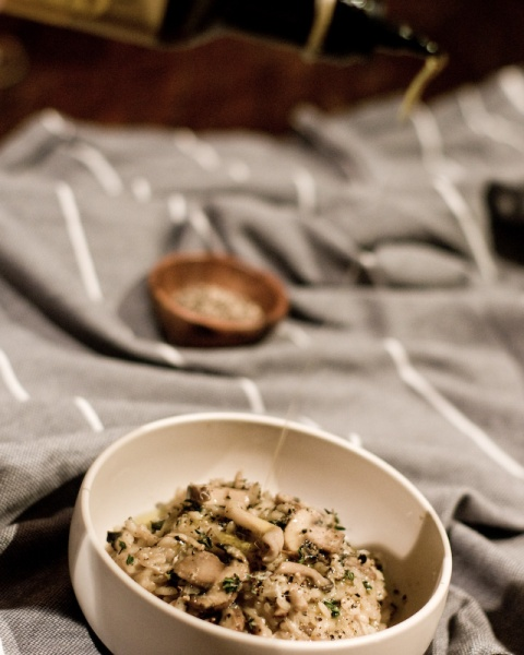Mushroom & Thyme Risotto with Lemon Oil-1-5