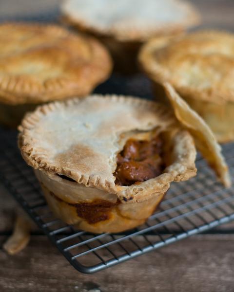 Chunky Beef, Mushroom & Bacon Pies-6