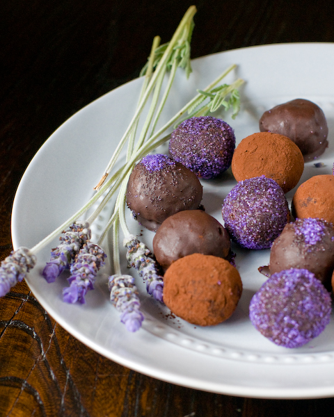 Dark Chocolate, Honey & Lavender Truffles-1