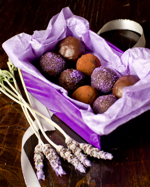 Dark Chocolate, Honey & Lavender Truffles-2