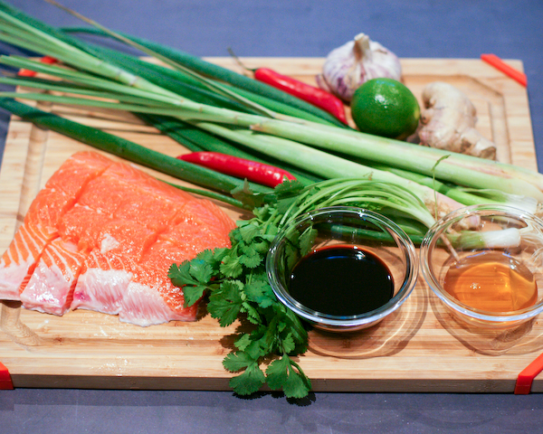 Honey & Soy Salmon with Infused Coconut Rice | The Sensitive Foodie