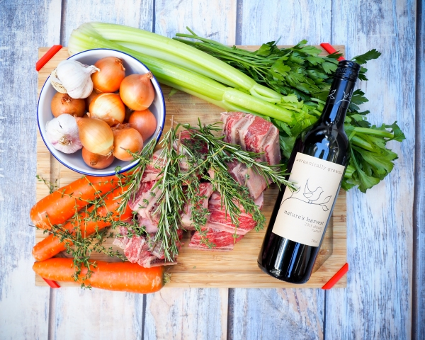 Red wine & herb braised short ribs-1