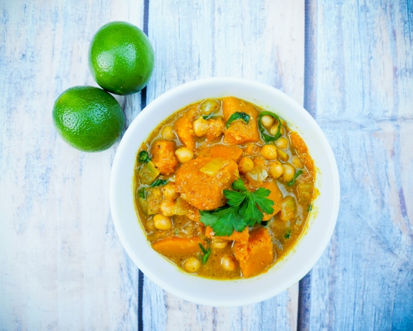 Pumpkin, Chickpea & Spinach Curry