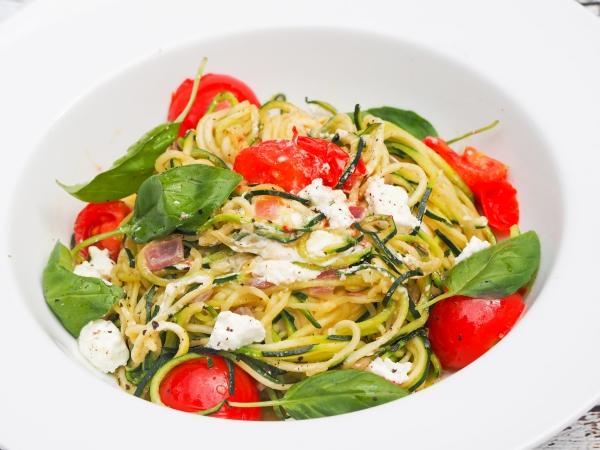 Tomato, Basil & Goat Cheese Zucchini Pasta-7