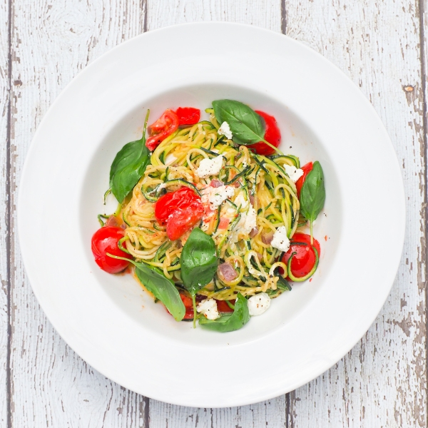 Tomato, Basil & Goat Cheese Zucchini Pasta-8
